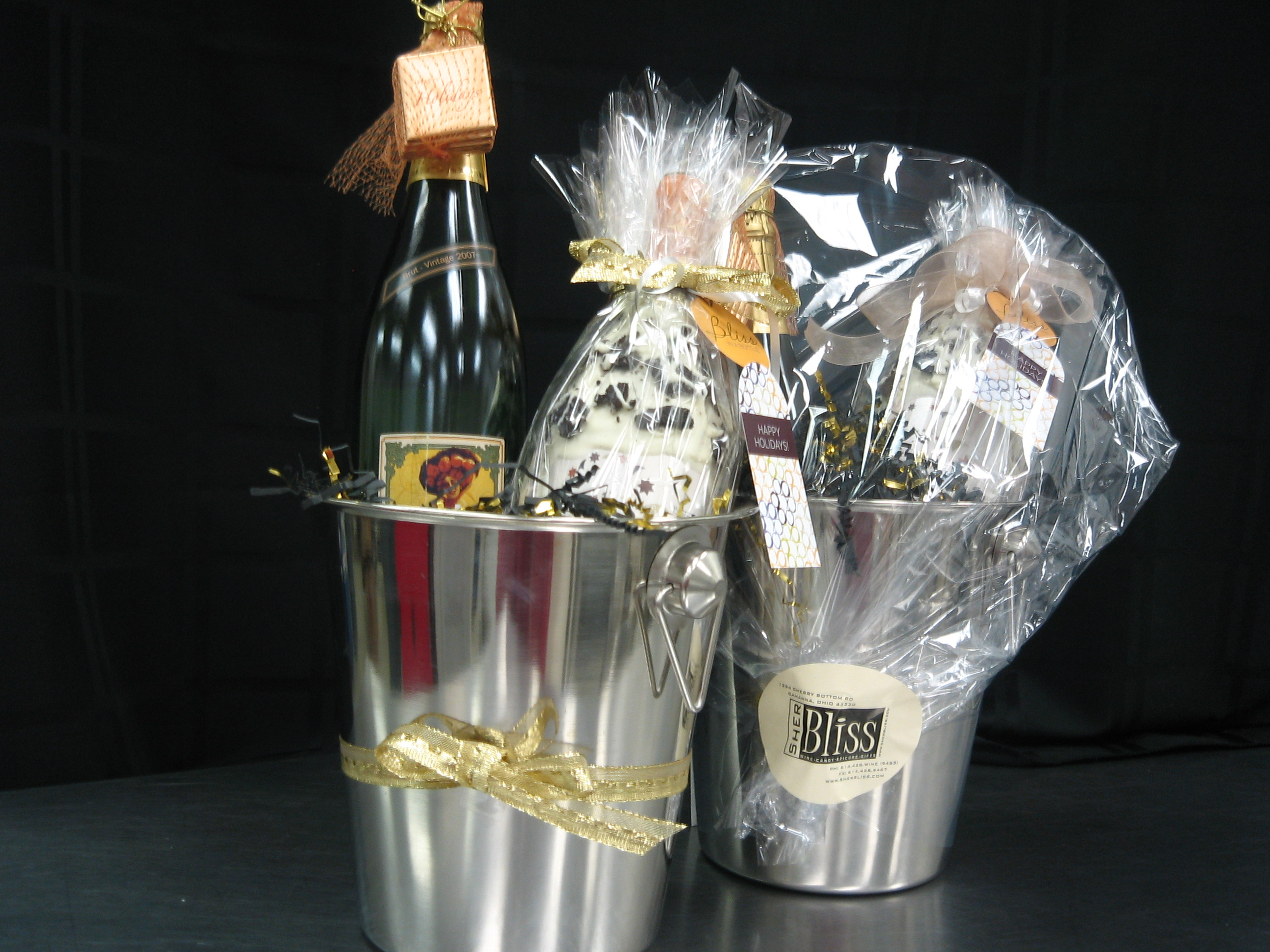 Ice bucket gift basket | She Pairs it Well